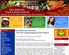East Midlands Food and Drink Festival Website