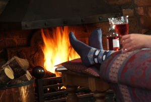 cosy up by an open fire