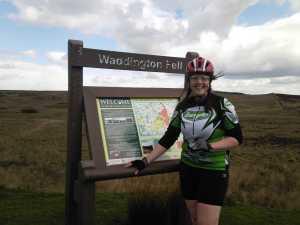 Jackie at Waddington Fell