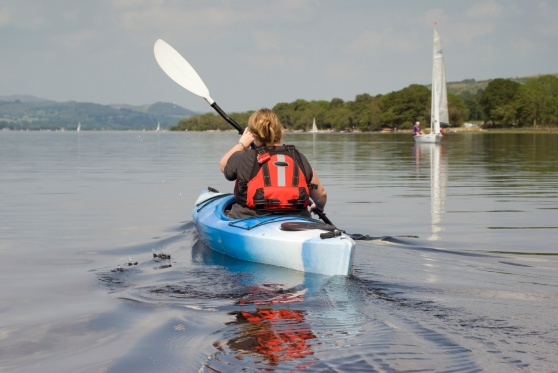 Kayaking on Lake Bala