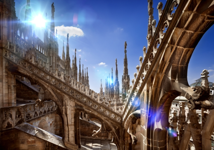 Details of Milan Cathedral