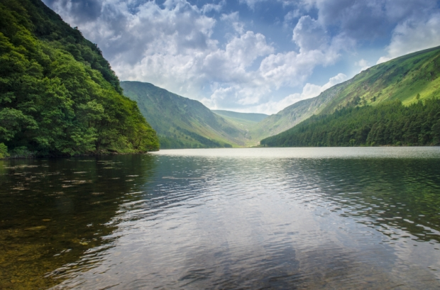 Upper Lake Glendalough in the Wicklow Mountains National Park