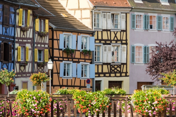 Colmar is the third-largest commune of the Alsace region in France and is known for eight centuries of Germanic and French architecture and its beautifully bright Old Town.