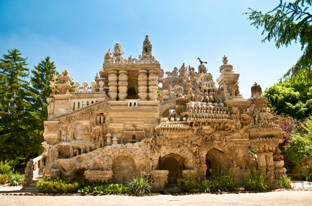 Le Palais Ideal in Hauterives, France. This extraordinary structure was built by stone from 1879 till 1912 by Ferdinand Cheval, the postman of the town.