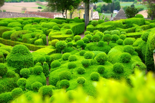 Les Jardins de Marqueyssac offer stunning views of Dordogne, beautiful walking trails and lovely ornate displays.