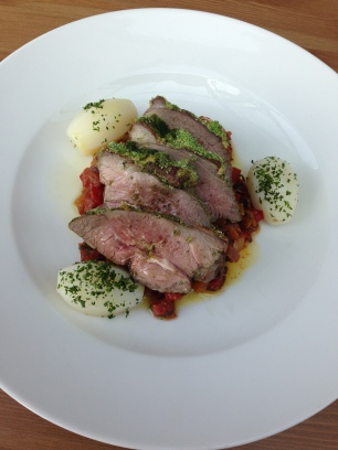 Roast Rump of Gower Salt Marsh Lamb By Sian Rees, Ian Wood, Head chefs of Sosban restaurant