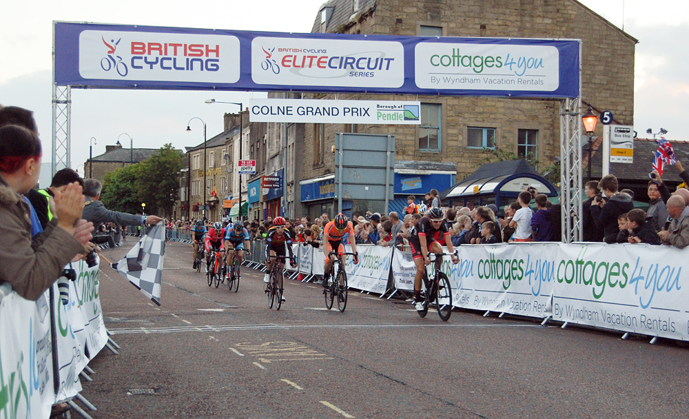 Colne GP across the line