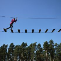 Play at an adventure playground or are you brave enough to go on a zip wire?