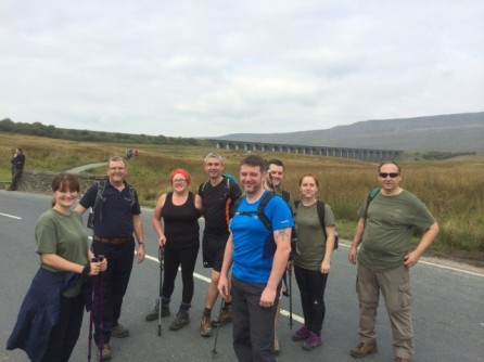 Pausing for a pic on approach to Whernside