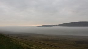 Misty morning from Pen-y-ghent