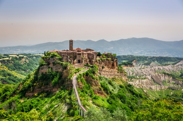 View of the old town of Bagnoregio