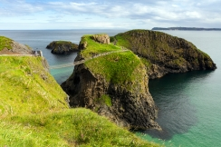The Carrick-a-Rede rope bridge offers spectacular views of the County Antrim coastline for those brave enough to cross it. Just don't look down!