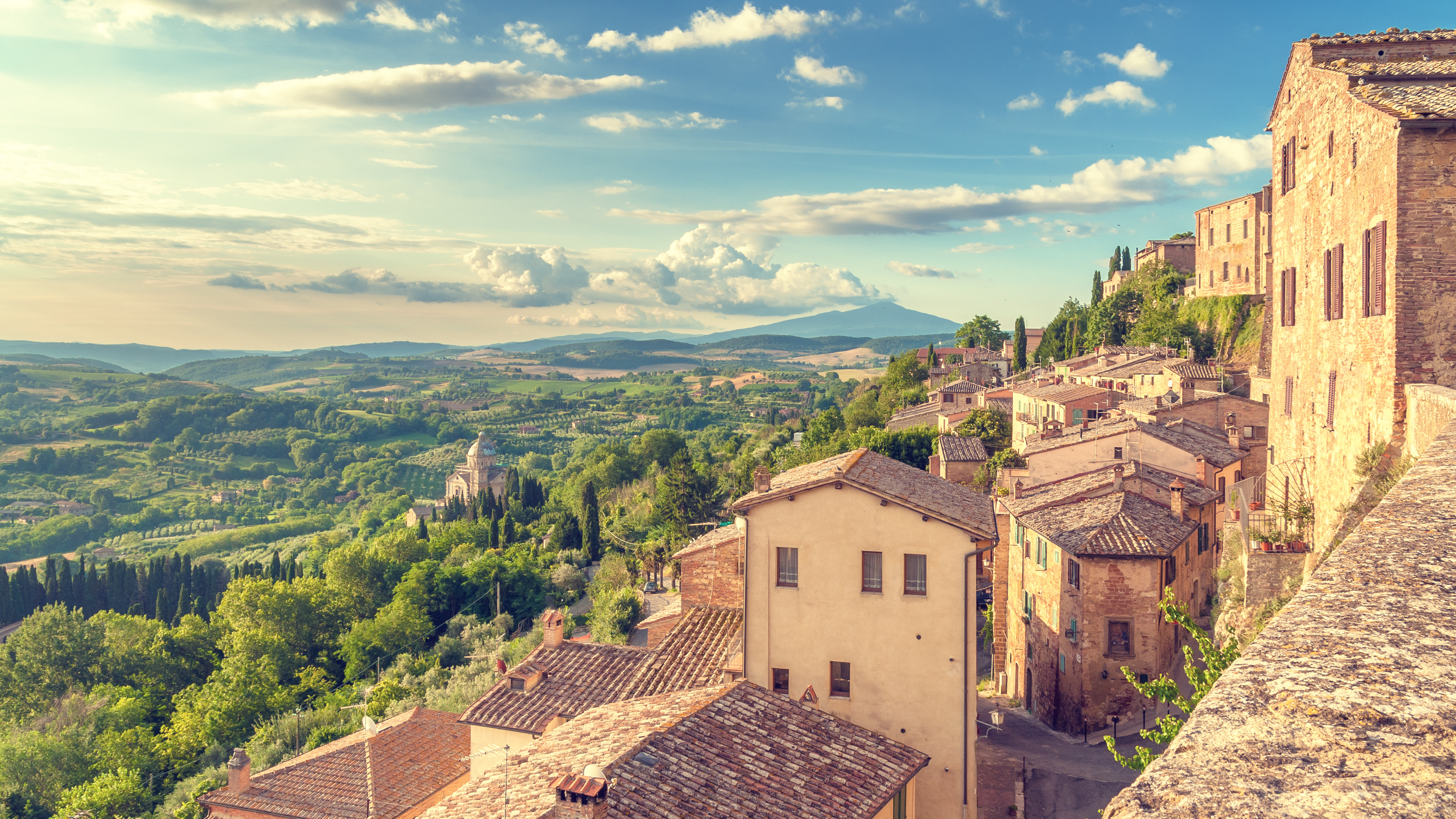 Tuscany as seen from the walls of montepulciano inspiration for Montepulciano italy