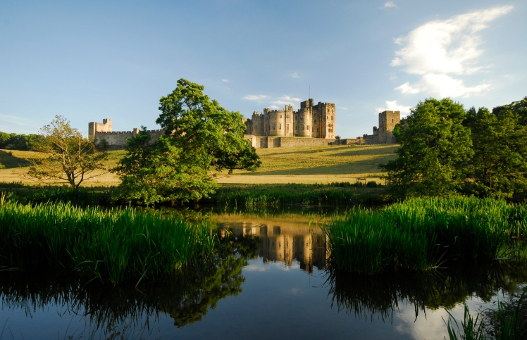 Alnwick Castle and the River Aln
