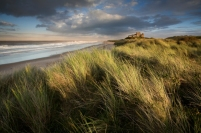 Bamburgh Castle in Northumberland.