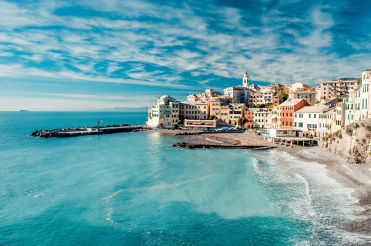 View of Bogliasco, Liguria