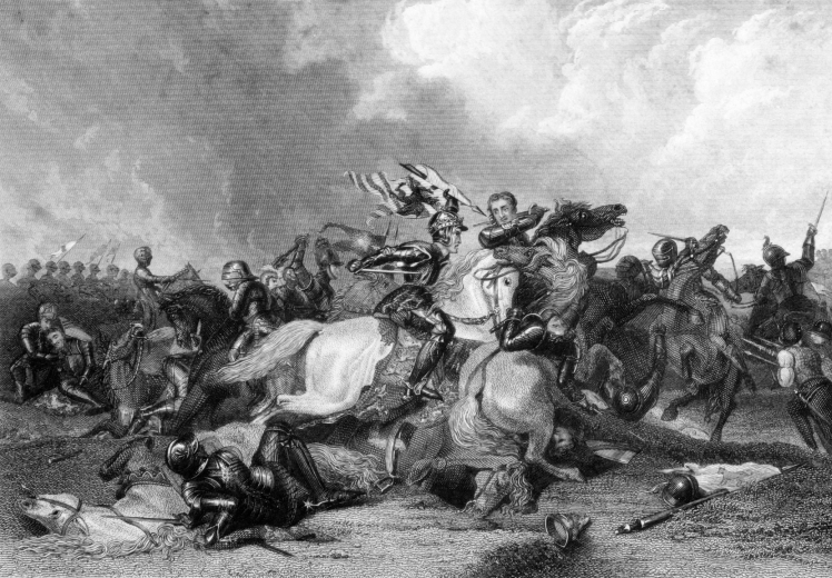 Richard III and Earl of Richmond at the Bosworth Battle