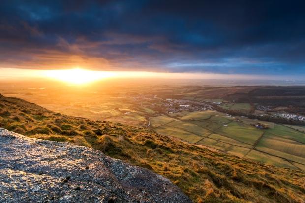 Sunrise over Glasgow Scotland