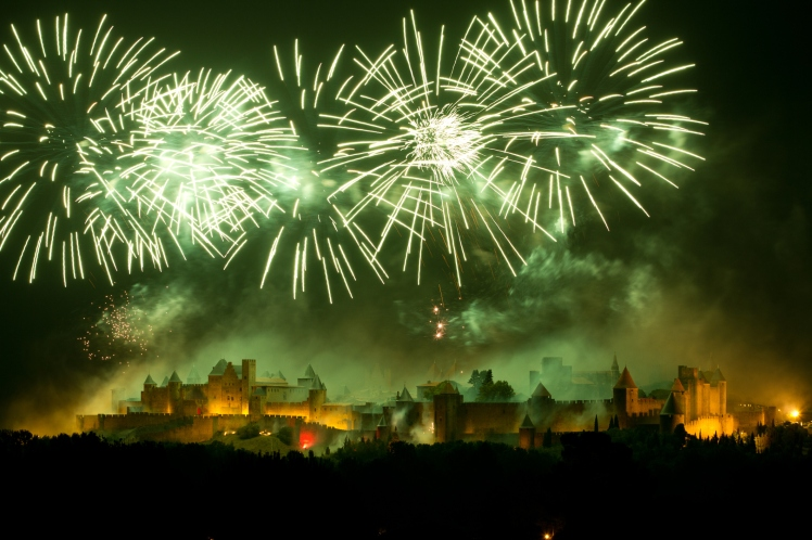 Carcasonne fireworks