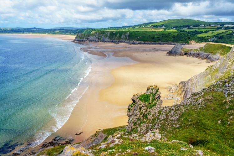 Three Cliffs Bay on Gower