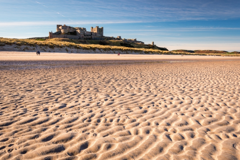 Ripples in sand on Bamburgh Beach
