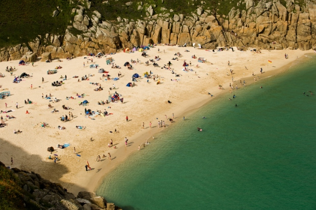 Porthcurno Beach, Cove, Cornwall, England
