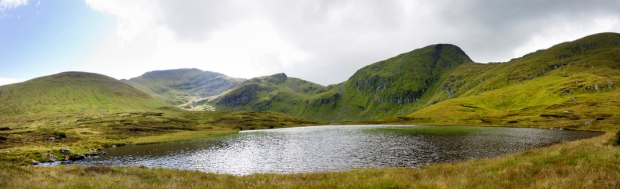Panoramic View Across Lochan nan Cat to Ben Lawers