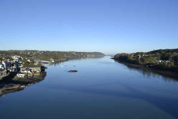 The tranquil Menai Straits in slack water