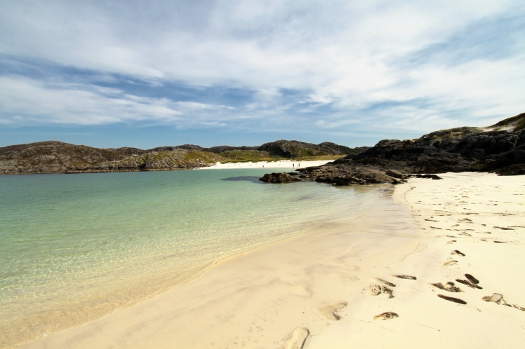 The golden sands of Achmelvich Beach